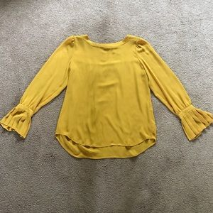 LOFT NWOT Blouse with Bell Sleeve Detail